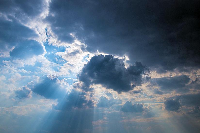 poluoblačno sunce oblaci